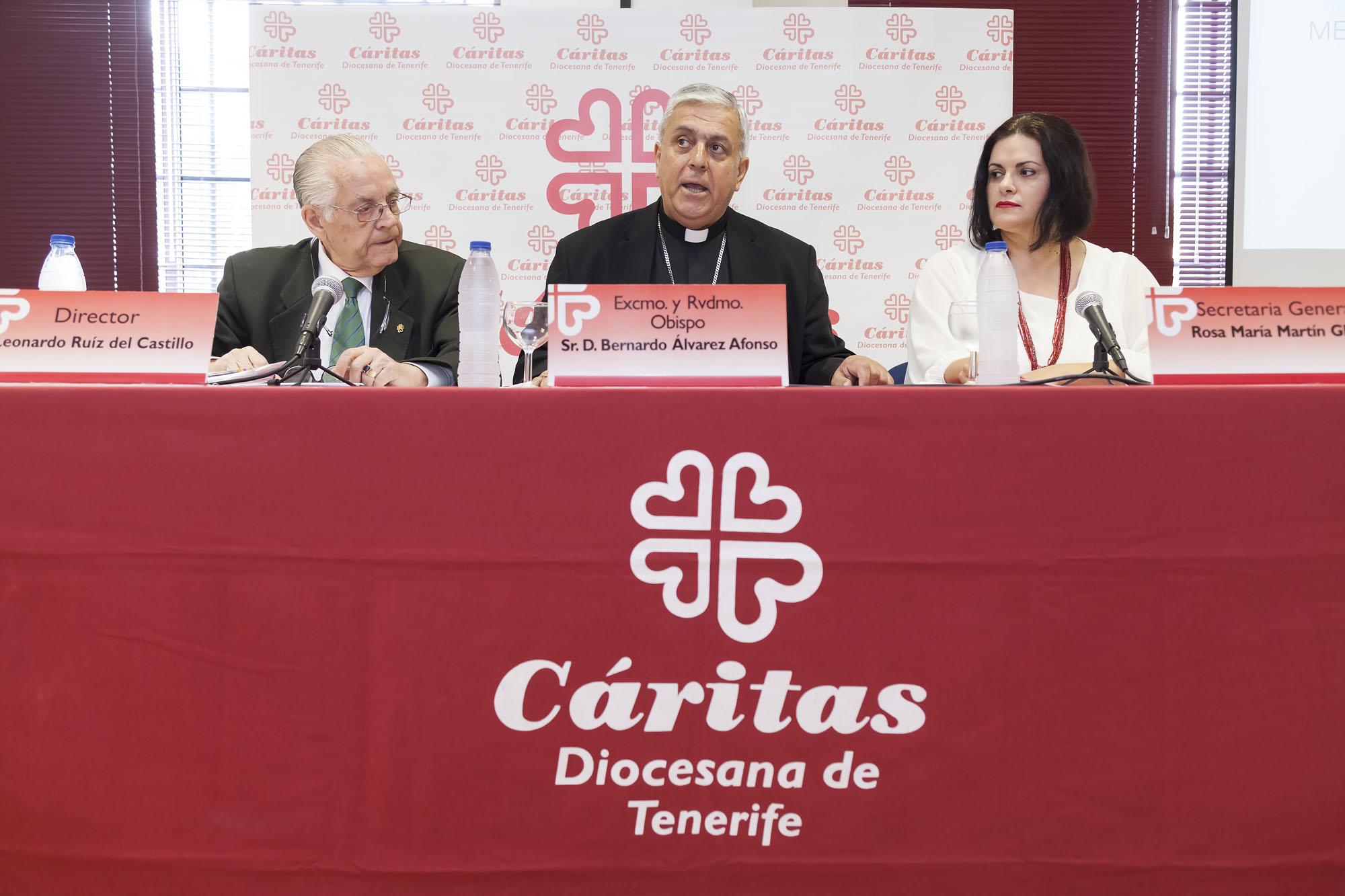 Presentación de la Memoria Institucional 2016 de Cáritas Diocesana de Canarias