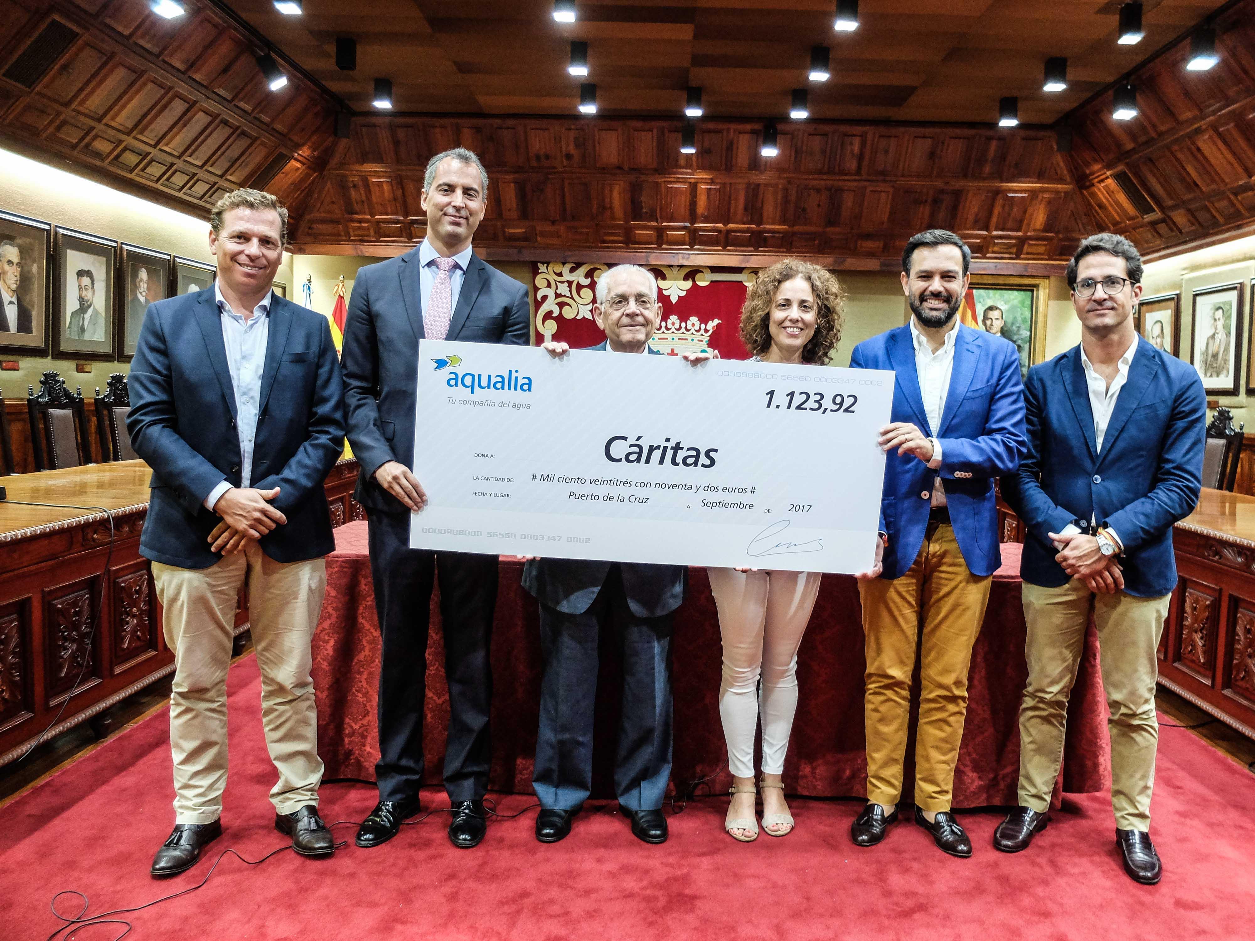 Cheque Aqualia Puerto de la Cruz