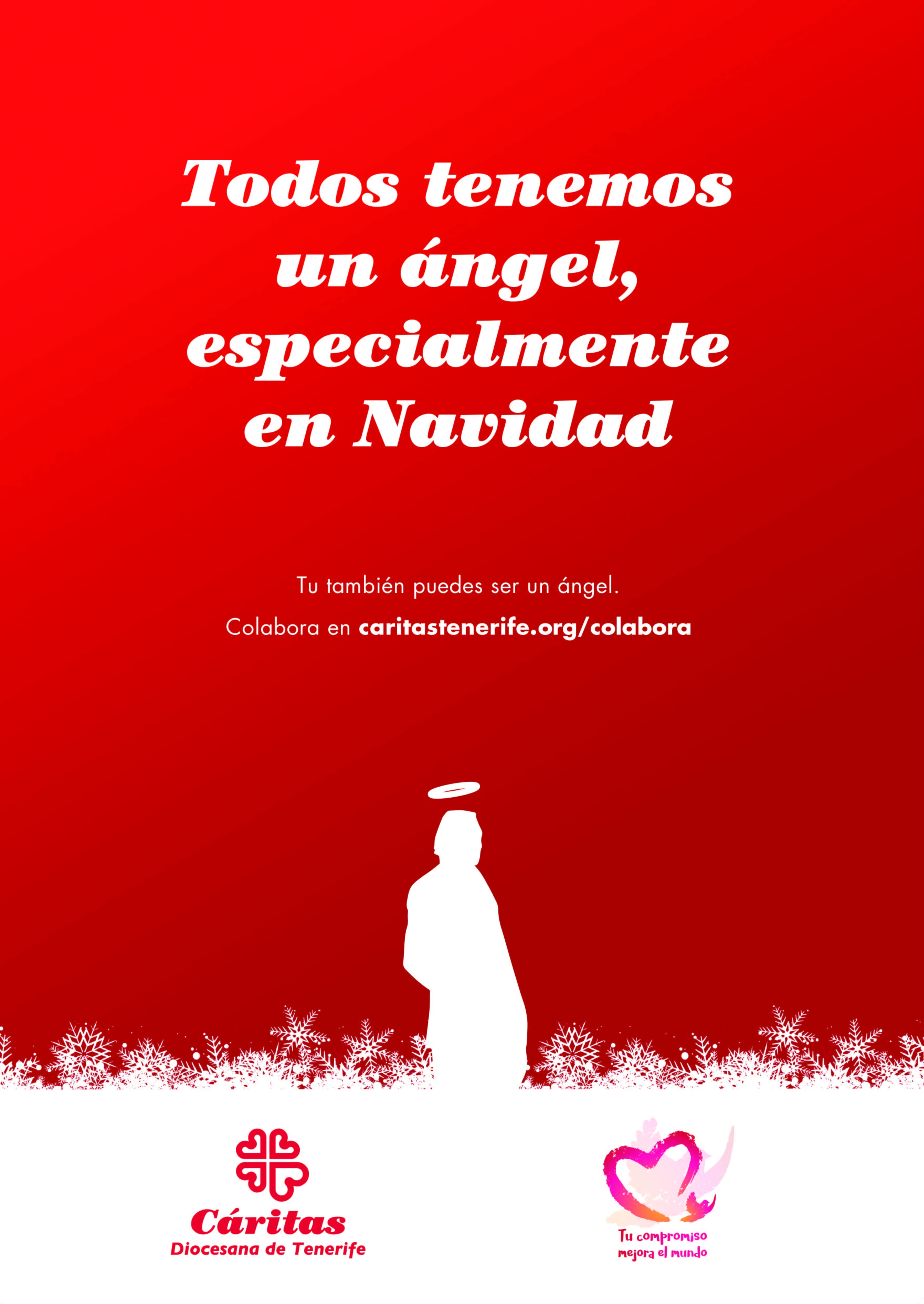 Cartel Navidad Cáritas Tenerife 2019